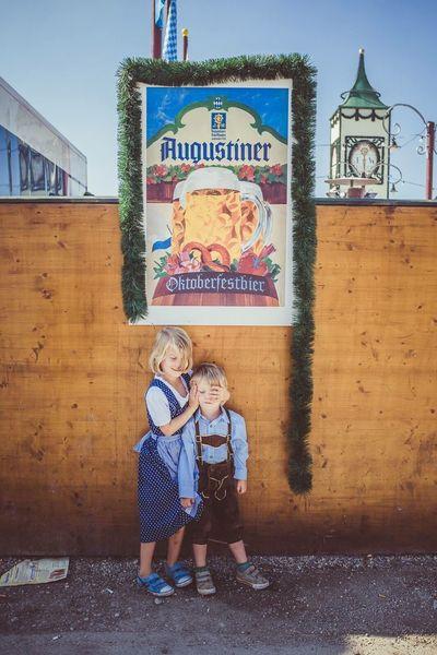 Oktoberfest Wiesn München Munich Bavaria Bayern Germany Kids Children Traditional Clothing Augustiner