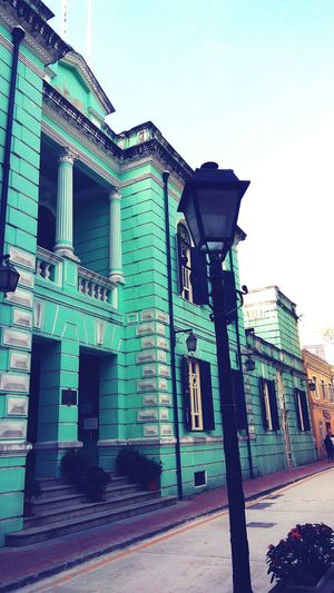 Macao  Macau Taipa Village Taipa  Museum Portuguese Architecture The Colour Torquoise Architecture Built Structure Day No People Outdoors Portuguese Colonial Style Villa East Meets West The Architect - 2017 EyeEm Awards