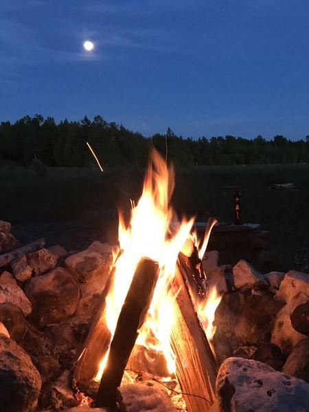 Camp Fire Fire Moon