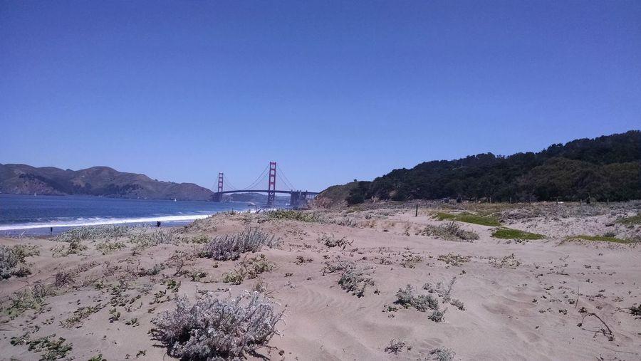 Beach Sand Nature Sky Outdoors Beauty In Nature Golden Gate Bridge