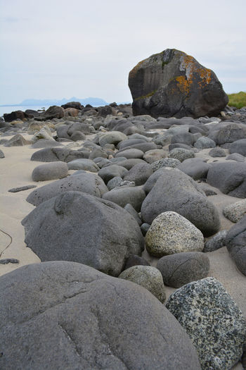 Norge Beach Beauty In Nature Coastline Day Fossil Geology Nature No People Norway Outdoors Pebble Rock - Object Sand Sand Dune Sea Sky