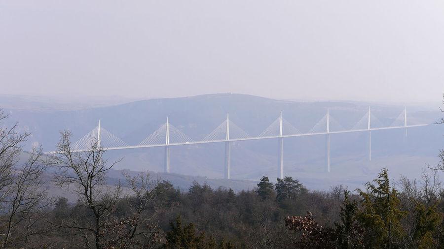 Viaduc de Millau Viaduc  Viaduc De Millau Millau Aveyron Bridge Bridge - Man Made Structure Haubans Architecture Architecture_collection Architecturelovers Pont Aveyron Occitanie France Mountain Fog Sky
