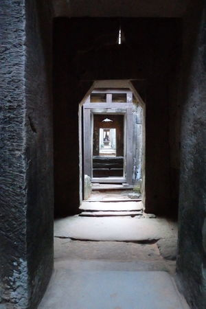Angkkor, Cambodia Angkor Architecture Built Structure Cambidia Door Old Perspective