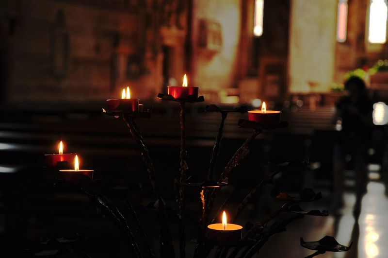 Shadows Lights Illuminated Flame Spirituality Burning Religion Heat - Temperature Candle City Close-up Candlestick Holder Tea Light Candlelight Symbolism Wax Altar Darkroom Religious Offering