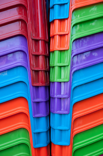Full frame shot of multi colored stools