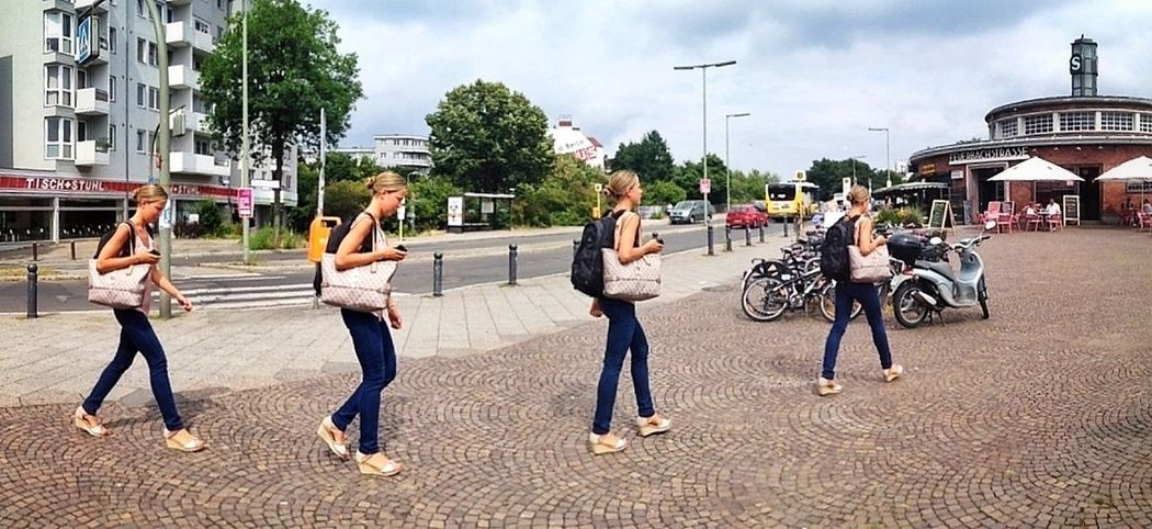 Photosynth silliness / Streetphoto_color Don't Be Square Friedenau Now
