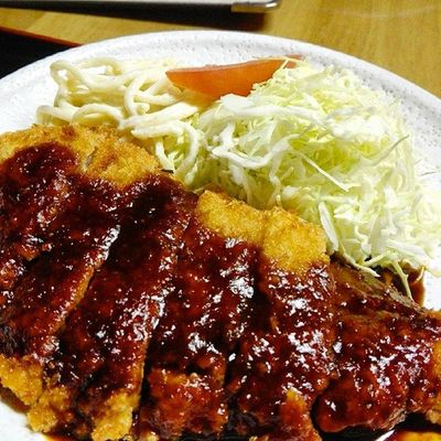 Fried pork with Miso source.Japaneserestaurant Japanesefood Yummy