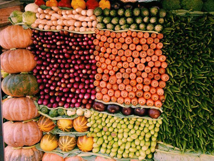 Vegetables Displayed For Sale At Market
