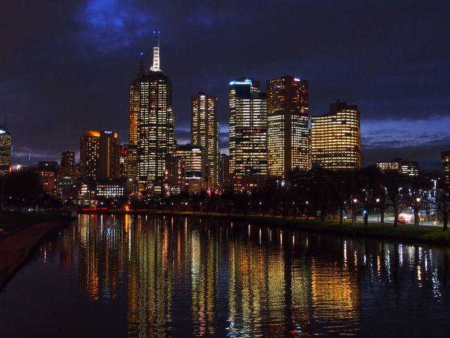 EyeEm Melbourne Melbourne At Night Reflection Yarra Melbourne Australia