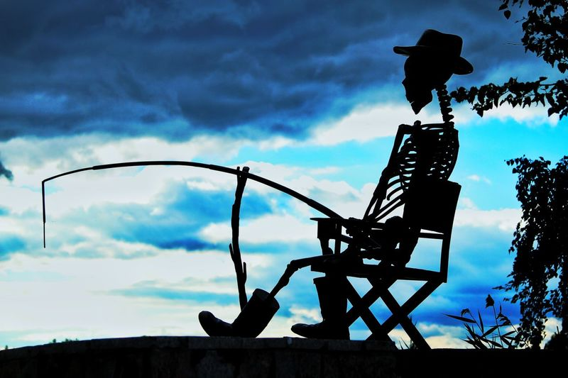 В лучах заката... челябинск  скелет Закат пейзаж Рыбалка рыболов кости череп