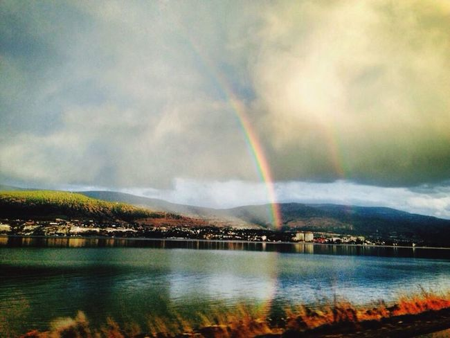 Double rainbow over Penticton Okanaganlake Rainbow Double Rainbows Penticton Britishcolumbia Canada