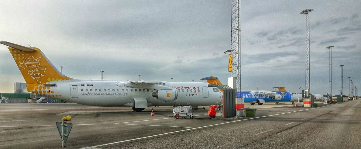 Airport Awaiting Plane Comercial Airline A Day At The Airport Samsungphotography Taking Photos Malmö Aviation Streamlined Spring 2016 Aircraft Turbine Jetplane Equipment Apron STAND My Job Showcase April