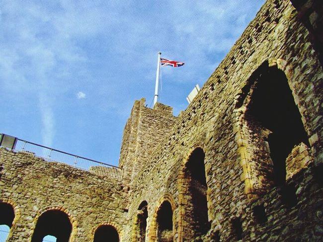 The top of the castle Rochester Castle Rochester United Kingdom Castle