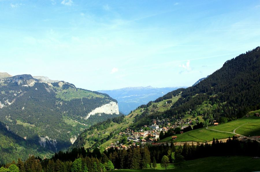 Scenic view on swiss golden pass rail to jungfrau... Switzerland Spring Jungfrau View From The Window... Rail ViewTravel Photography Landscape Travel Mountain View Nature