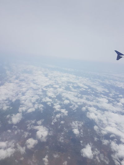 Aerial View Airplane Airplane Wing Beauty In Nature Cloud - Sky Day Flying Horizon Over Water Mid-air Nature No People Outdoors Scenics Sea Sky Transportation Water