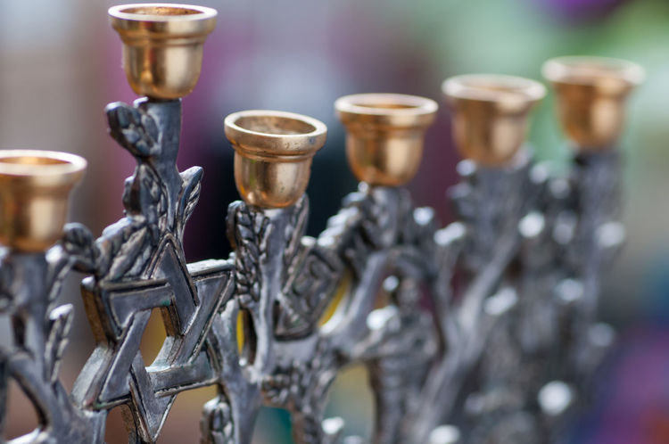 close up of Hanukkah menorah Hanukkah Menorah Jewish Silverware  Star Of David Still Life Photography StillLifePhotography Choice Close-up Day Hanukkah Indoors  Jewish Heritage Jewish Holiday Jewish Holidays Jewish Holy Day Large Group Of Objects Metal No People Selective Focus Silver - Metal Silver Colored Stationary Still Life Symbol Symbolism