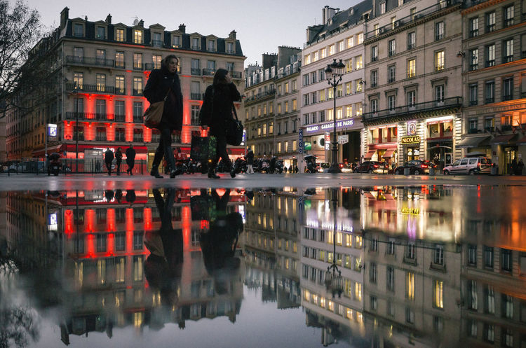 City City Life Color Streetphotography Nightphotography Place De La Madelaine Reflection Ricoh Gr Still Life Streetphotography