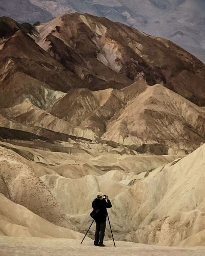 Watercolor in Death Valley, CA Full Length Standing Sky Sand Dune Mountain Range Rocky Mountains