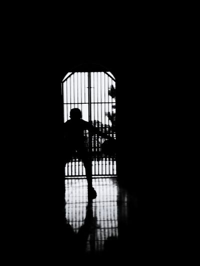 Silhouette Silhouette Indoors  People Day One Person Sports Photography Sport Basketball