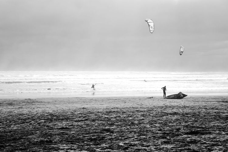 Black & White Kitsurfing Beach Black And White Blackandwhite Blackandwhite Photography Day Extreme Sports Holiday Kiteboarding Kitsurf Leisure Activity Lifestyles Nature Outdoors People Sea Sky Sport Water Watersports