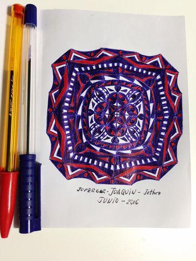 Mandala; pen on paper. Relaxing Enjoying Life Picture Dibujo Mandalas Boligrafo