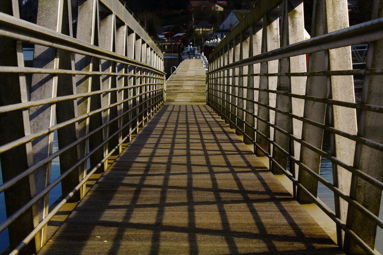 Surface Level Of Narrow Bridge