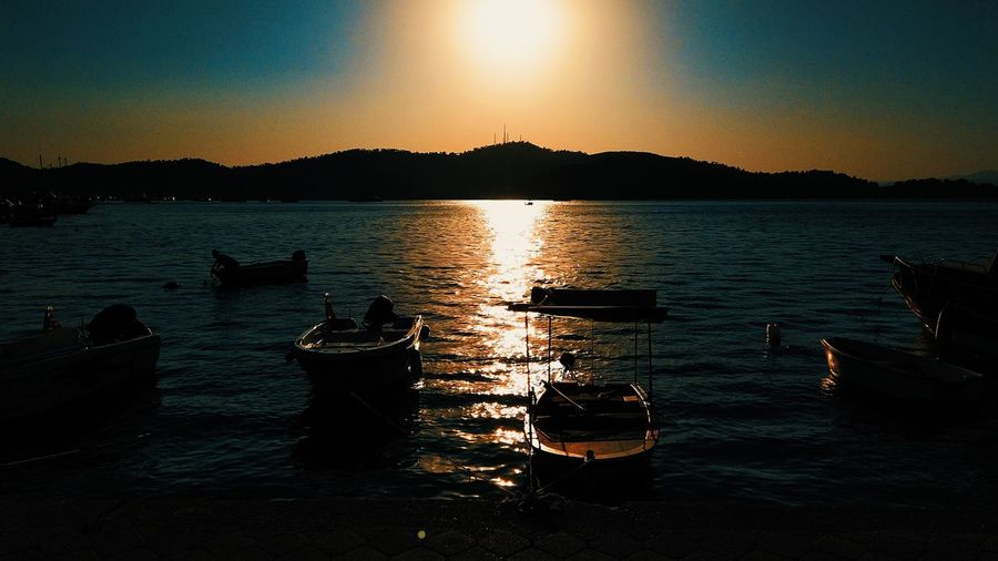 Fethiye Sahil Horizon Over Water Sea Mugla Mi 5s Xiaomiphotography Water Sky Tranquility Scenics - Nature Nature Tranquil Scene Beauty In Nature Sunlight Reflection Sunset