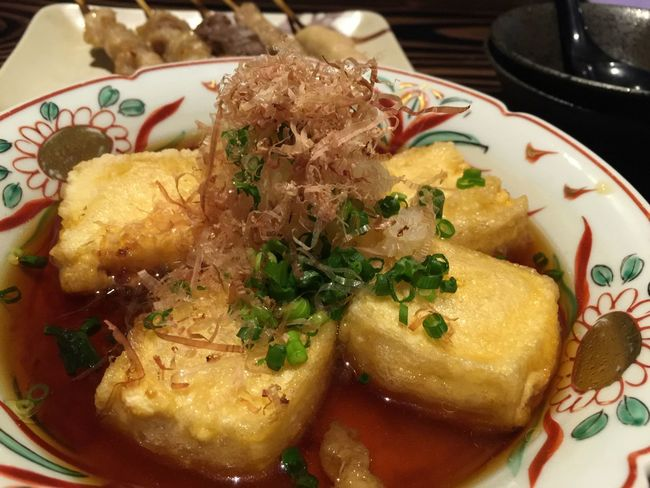 揚げ出し豆腐 Enjoying A Meal Tofu Agedashi Tofu Lightly Deep-fried Tofu