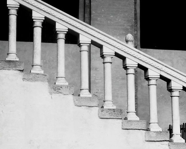 Baluster at building