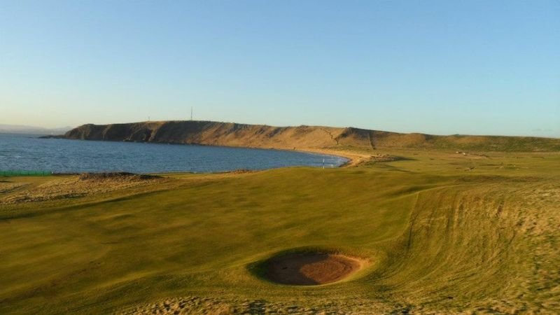 Elie Golf Course. ELIE Scotland Beauty In Nature Blue Clear Sky Day Golf Course Grass Home Of Golf Landscape Nature No People Outdoors Sand Sand Dune Scenics Sky Summer Tranquil Scene Water