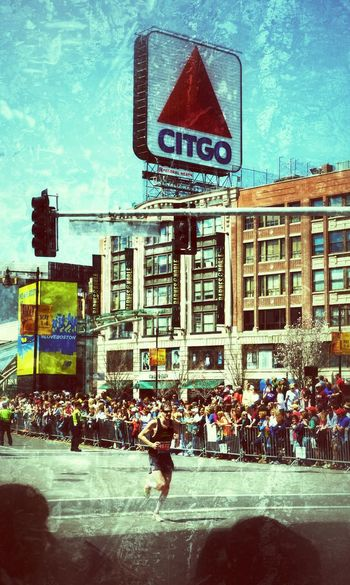 Eye4photography  Snapseed Boston Marathon Citgo