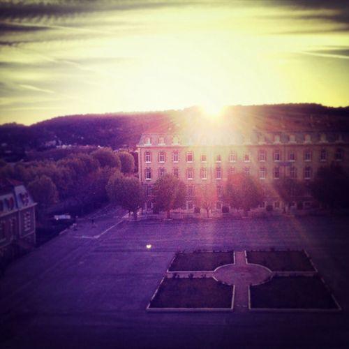 Sunrise School Landscape Morning #sunshine #lma #purple #pink #beautiful #quiet