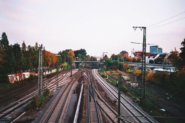 City Life Day Outdoors Public Transportation Rail Transportation Railroad Track Railway Track Straight The Way Forward Train Transportation Travel