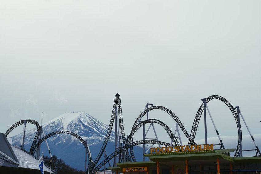 Amusement Park Rollercoaster Winter Theme Park Japan DSLR Nikon Photography Mt Fuji Nature Outdoors FujiQ
