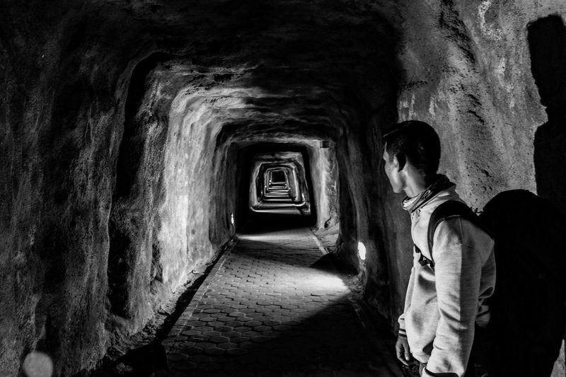 The tunnel... Street Photography Real People Human Interest INDONESIA Photography Bw Bw Photography EyeEm Selects The Week On EyeEm Perspectives On Nature Black And White Friday The Traveler - 2018 EyeEm Awards