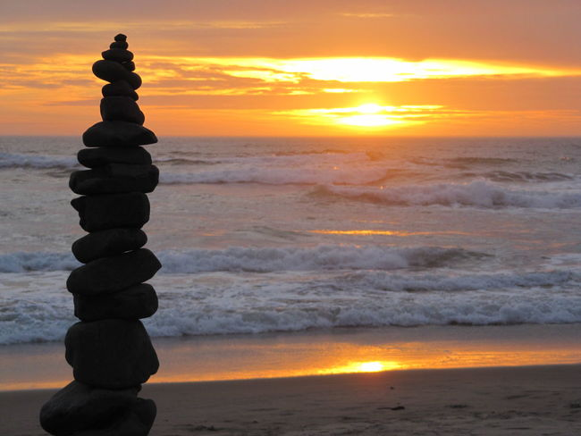 Balance Beach Beauty In Nature Cloud - Sky Scenics - Nature Sea Sky Sun Sunset Tranquil Scene Tranquility Wave
