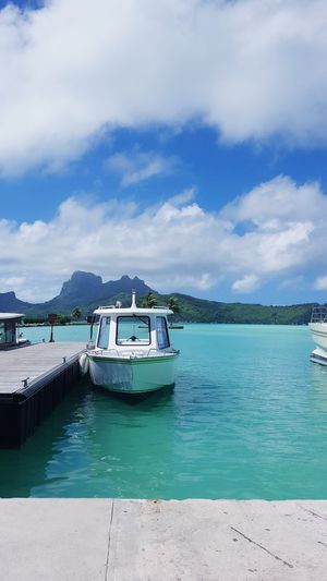 Bora Bora Port Bora Bora  Transportation Recreational Boat Water Tourism Landscape Outdoors Passenger Craft French Polynesia Airport Departure Area