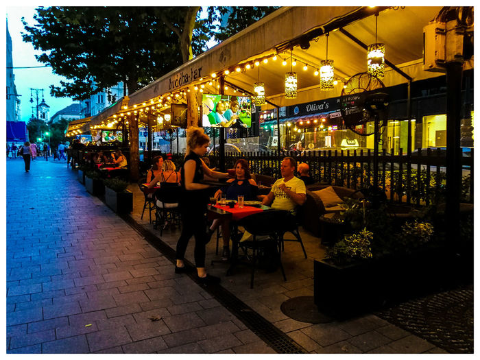 Celebrating. Travel Destinations Turistic Attractions Tredition Hungary Men City Outdoor Cafe Restaurant
