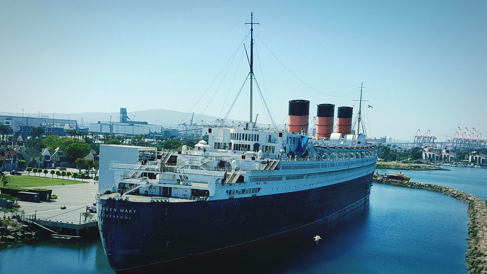 Queen Mary Long Beach California Human Meets Technology Ship Steamship Cruise Ship Oceanliner Cruiseliner Historical Ship