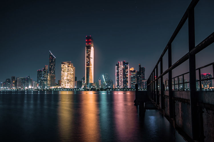 night to remember Capture Tomorrow Architecture Built Structure Building Exterior Illuminated Sky Night Water City Building Office Building Exterior Skyscraper Tall - High Waterfront Reflection Tower Urban Skyline Nature Travel Destinations Modern No People Cityscape Outdoors Financial District