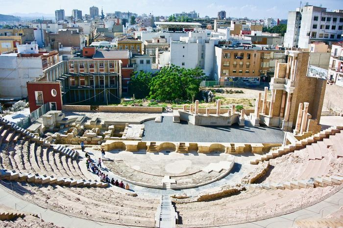Roman Theatre Cartagena Ancient Architecture Building Building Exterior Built Structure City Cityscape Day High Angle View History Incidental People Nature Outdoors Residential District Roman Architecture Roman Theater Roman Theatre Sunlight The Past Theatre Tourism Town Travel Travel Destinations