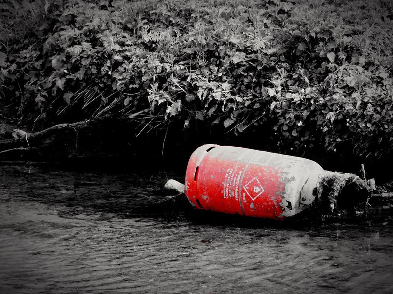 The Photojournalist - 2016 EyeEm Awards Polution Poluted Earth Poison Gas Canister River Riverside Riverbank Waste Pollution Pollution In My World