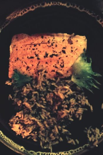Poached Herbed Salmon with Wild Rice. Made for me by my beloved husband :-) Foodpics Food Out Of My Cauldron SZeaglesoul