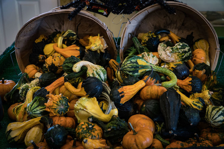 Close-up Day Fall Farmstand Flower Food Freshness Gourds Healthy Eating High Angle View Indoors  Nature No People Pumpkin Pumpkins Vegetable Yellow