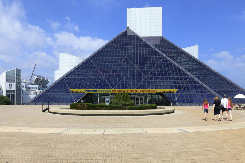 The Rock and Roll Hall of Fame and Museum Architecture Blue Building Exterior Built Structure City City Life Cloud Cloud - Sky Day Development Geometric Shape Halloffame Modern Museum Office Building Outdoors Pyramide Rock&roll RockandRoll Sky Tourist