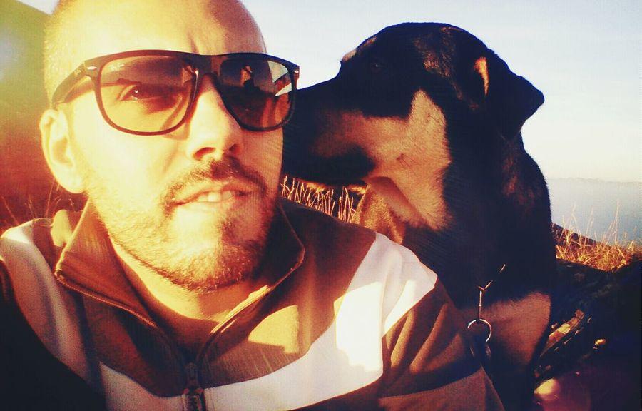 Dog Friends Animals Selfie Sunset Lake Of Garda Verona Sunny Day I Love My Dog