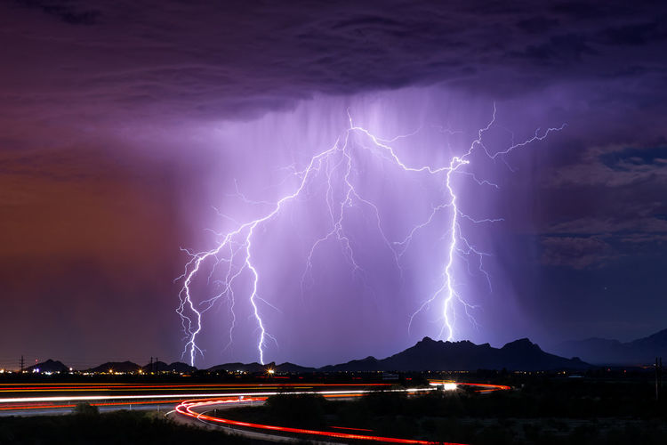 Lightning Arizona Awe Beauty In Nature Cloudscape Dramatic Sky Ethereal Forked Lightning Illuminated Lightning Majestic Monsoon Night No People Outdoors Power In Nature Rain Scenics Storm Storm Cloud Stormy Thunderstorm Thunderstorms Weather