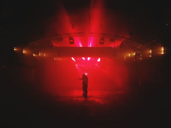 One Person Red Full Length Arts Culture And Entertainment Standing Front View People Leisure Activity Silhouette Only Men Indoors  Stage Light Adults Only One Man Only Adult Music Music Brings Us Together Whp Warehouseproject