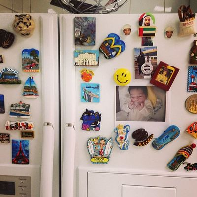 Baby Salim on My Mom's fridge of fame. Shj FamilyLove FridgeMagnets