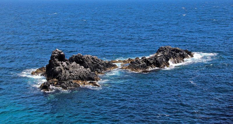Islets off the far eastern coast of Pico Island, Azores. Azores Açores Blue Coastline Nature Ocean Pico Island Portugal Remote Rock Rock - Object Rock Formation Scenics Sea Seascape Tranquil Scene Tranquility Visitazores Water